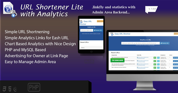 Easy URL Shortener With Analytics v2.0