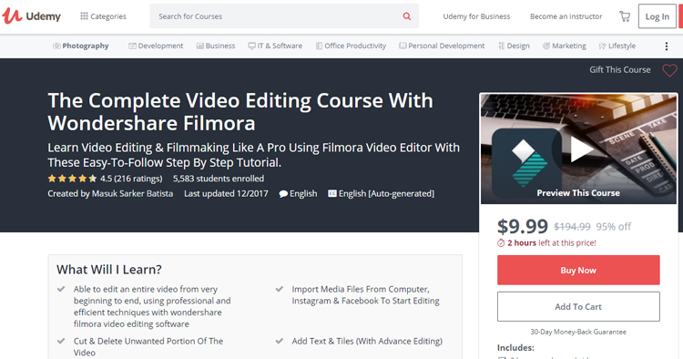 The Complete Video Editing Course With Wondershare Filmora