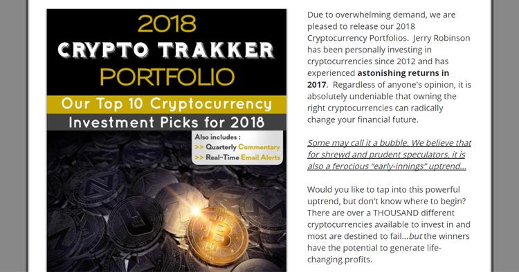 2018 Crypto Trakker Portfolio