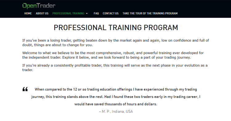 PROFESSIONAL TRAINING PROGRAM