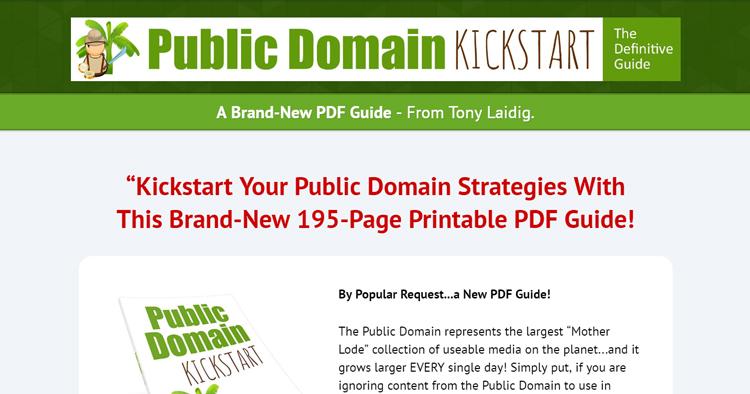 Public Domain Kickstart