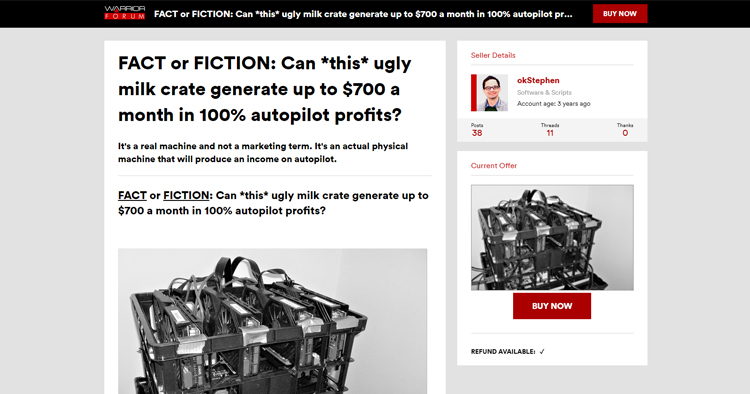 Can *this* ugly milk crate generate up to $700 a month in 100% autopilot profits?