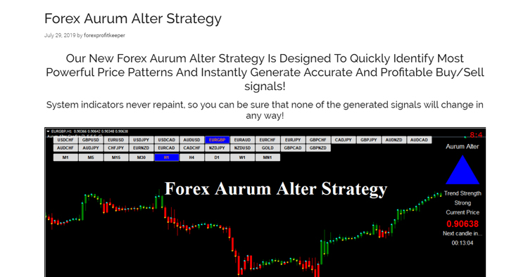 Forex Aurum Alter Strategy