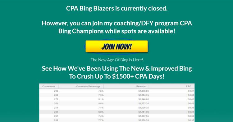 CPA Bing Blazers + OTO 1/2